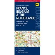 AA Road Map Europe France, Belgium & the Netherlands by Automobile Association (Great Britain), 9780749575311