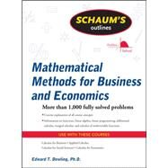 Schaum's Outline of Mathematical Methods for Business and Economics by Dowling, Edward, 9780071635325