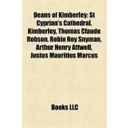 Deans of Kimberley : St Cyprian's Cathedral, Kimberley by , 9781155175331