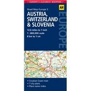 AA Road Map Austria, Switzerland & Slovenia by Automobile Association (Great Britain), 9780749575335