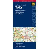 AA Road Map Europe Italy by Automobile Association (Great Britain), 9780749575342
