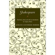 Shakespeare by Herder, Johann Gottfried, 9780691135359