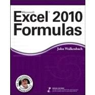 Excel 2010 Formulas by Walkenbach, John, 9780470475362