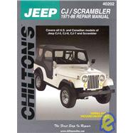 Chilton's Jeep Cj/Scrambler 1971-86 Repair Manual by Freeman, Kerry A., 9780801985362