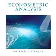 Econometric Analysis by Greene, William H., 9780131395381