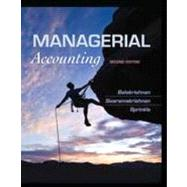 Managerial Accounting by Balakrishnan, Ramji; Sivaramakrishnan, K.; Sprinkle, Geoffrey, B., 9781118385388