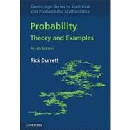Probability: Theory and Examples by Rick Durrett, 9780521765398