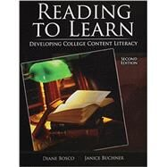 Reading to Learn by Bosco, Diane; Buchner, Janice L., 9781465275400