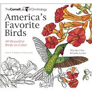 America's Favorite Birds 40 Beautiful Birds to Color by Greig, Emma Ileana; Lyons, Brenda, 9781943645411