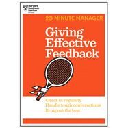 Giving Effective Feedback by Harvard Business Review, 9781625275424