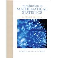 Introduction to Mathematical Statistics by Hogg, Robert V.; McKean, Joseph W.; Craig, Allen T, 9780321795434