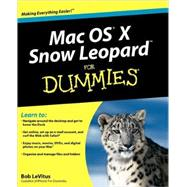 Mac OS X Snow Leopard For Dummies by LeVitus, Bob, 9780470435434