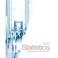Statistics for Management and Economics by Keller, 9781285425450