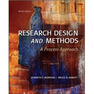 Research Design and Methods : A Process Approach by Bordens & Abbott, 9780078035456