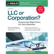 Llc or Corporation? by Mancuso, Anthony, 9781413325478