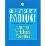 Graduate Study in Psychology 2014 by American Psychological Association; Cope, Caroline, 9781433815485