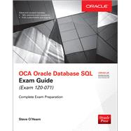 OCA Oracle Database SQL Exam Guide (Exam 1Z0-071) by O'Hearn, Steve, 9781259585494