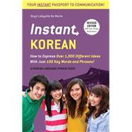 Instant Korean by De Mente, Boye; Kim, Woojoo, 9780804845502