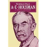 A. E. Housman by Page, Norman, 9781349065516