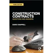 Construction Contracts: Questions and Answers by David Chappell Consultancy Ltd, 9781138795518