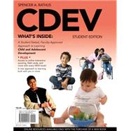 CDEV (with Review Card and CourseMate with eBook, 1 term (6 months) Printed Access Card) by Rathus, Spencer A., 9780495905530