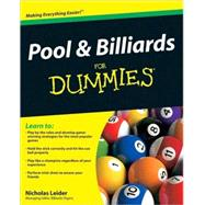 Pool and Billiards For Dummies by Leider, Nicholas, 9780470565537