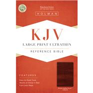 KJV Large Print Ultrathin Reference Bible, Brown LeatherTouch Indexed by Unknown, 9781433615542