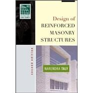 Design of Reinforced Masonry Structures by Taly, Narendra, 9780071475556