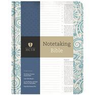 HCSB Notetaking Bible, Blue Floral by Holman Bible Staff, 9781433645556