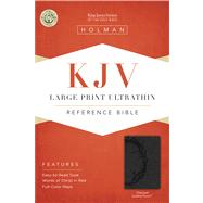 KJV Large Print Ultrathin Reference Bible, Charcoal LeatherTouch by Unknown, 9781433615559