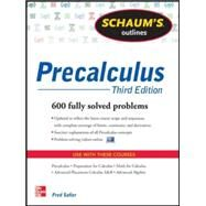 Schaum's Outline of Precalculus, 3rd Edition 738 Solved Problems + 30 Videos by Safier, Fred, 9780071795593