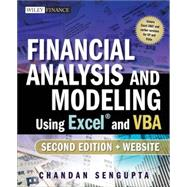 Financial Analysis and Modeling Using Excel and VBA by Sengupta, Chandan, 9780470275603