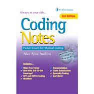 Coding Notes: Pocket Coach for Medical Coding by Andress, Alice Anne, 9780803645608