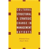 Cultural, Structural and Strategic Change in Management Buyouts by Berry, Dean F.; Green, Sebastian, 9781349215614