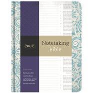 NKJV Notetaking Bible, Blue Floral by Holman Bible Staff, 9781433645655