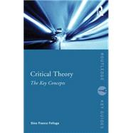 Critical Theory: The Key Concepts by Felluga; Dino Franco, 9780415695657
