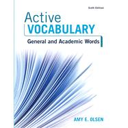 Active Vocabulary Plus MyReadingLab -- Access Card Package by Olsen, Amy E., 9780134445670