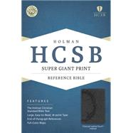 HCSB Super Giant Print Reference Bible, Charcoal LeatherTouch Indexed by Holman Bible Staff, 9781433615696