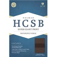 HCSB Super Giant Print Reference Bible, Brown/Chocolate LeatherTouch Indexed by Holman Bible Staff, 9781433615719