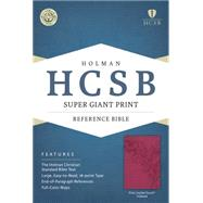 HCSB Super Giant Print Reference Bible, Pink LeatherTouch Indexed by Holman Bible Staff, 9781433615733