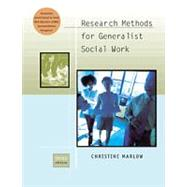 Research Methods for Generalist Social Work by Marlow, Christine R., 9780534525743