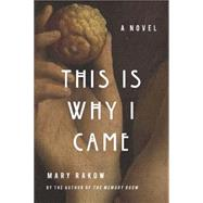 This is Why I Came A Novel by Rakow, Mary, 9781619025752