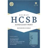 HCSB Super Giant Print Reference Bible, Teal LeatherTouch Indexed by Holman Bible Staff, 9781433615771