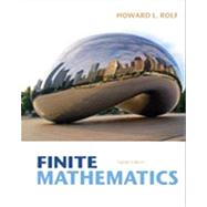 Finite Mathematics by Rolf, Howard L., 9781133945772