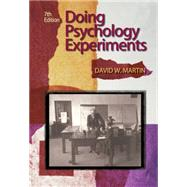 Doing Psychology Experiments by Martin, David W., 9780495115779
