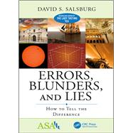 Errors, Blunders, and Lies: How to Tell the Difference by Salsburg; David S., 9781498795784