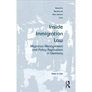Inside Immigration Law: Migration Management and Policy Application in Germany by Eule,Tobias G., 9781138245785