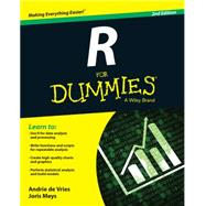 R for Dummies by De Vries, Andrie; Meys, Joris, 9781119055808