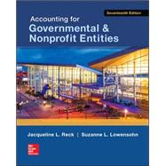 Accounting for Governmental & Nonprofit Entities by Reck, Jacqueline; Lowensohn, Suzanne; Wilson, Earl R., 9780078025822