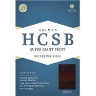 HCSB Super Giant Print Reference Bible, Saddlebrown LeatherTouch by Holman Bible Staff, 9781433615849